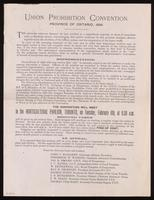 Union probihition convention, Province of Ontario, 1894