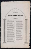 The carrier of the Upper Canada Herald to his customers, January 1, 1831