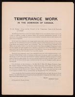 Temperance work in the Dominion of Canada