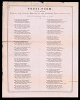 Press poem / by D. Wylie ; read at the annual meeting of the Canadian Press Association, held at Brantford, July 19, 1870