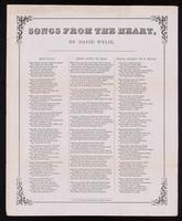 Songs from the heart / by David Wylie