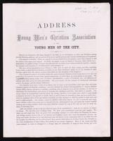 Address of the Hamilton Young Men's Christian Association to the young men of the city