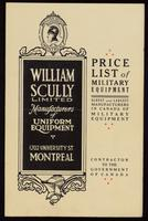 Price list of military equipment / William Scully Limited