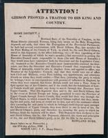 Attention! Gibson proved a traitor to his King and country