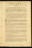 An ordinance for regulating and establishing the courts of judicature, justices of the peace, quarter-sessions, bailiffs : and other matters relative to the distribution of justice in this province