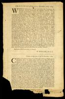 Province of Quebec December 10th, 1764 : whereas information has been laid before His Excellency the Governor ...