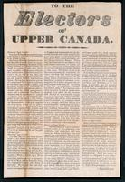 To the electors of Upper Canada