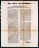 To the electors of the City of Toronto
