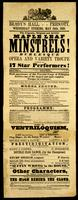 Brady's Hall, Prescott, Wednesday evening, May 24th, 1865 : The gigantic, original and artistic Maple Leaf Minstrels burlesque opera and variety troupe ...