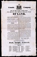 The Canada company have for sale in Upper Canada, about two million five hundred thousand acres of land ...