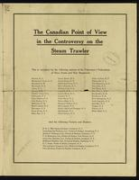 The Canadian point of view in the controversy on the steam trawler