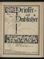 Canadian Printer & Publisher Vol. 4, No.8