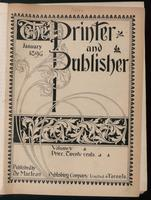 Canadian Printer & Publisher Vol. 5, No. 1