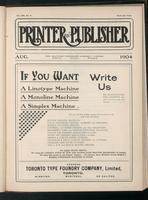 Canadian Printer & Publisher Vol. 13, No. 8