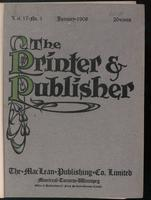 Canadian Printer & Publisher Vol. 17, No. 1