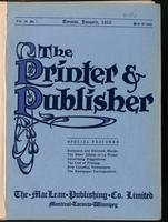 Canadian Printer & Publisher Vol. 19, No. 1