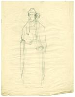 Grace Church-on-the-hill Reredos figure sketch of John Strachan