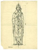 Grace Church-on-the-hill Reredos figure sketch of Bishop Thomas Cranmer