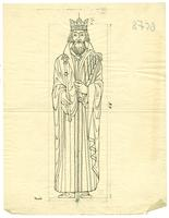 Grace Church-on-the-hill Reredos figure sketch of King David with measurements