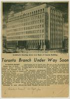Bank of Canada - Toronto Branch Under Way Soon
