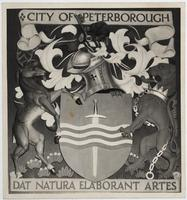 Photograph of the coat of arms of the City of Peterborough (completed)