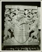 Photograph of the coat of arms of the City of Peterborough (unpainted)