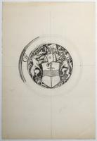Pencil sketch of Peterborough seal 2