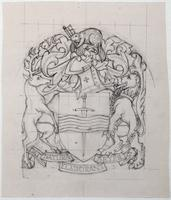Pencil sketch of Peterborough seal 3