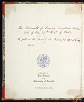 Thomas Fisher Rare Book Library Manuscripts
