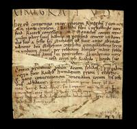 British charter involving the convent of Norwich