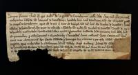Land grant from Robert de la Grene to Galfrid de Snetesham