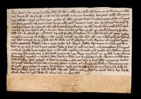 British deed involving Letia, widow of Walter Fitzjohn and her son Richard