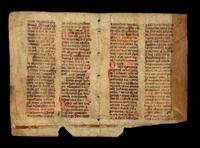 Four leaves from a Dutch book of devotions