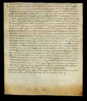 Italian act written by the Public Notary John Guglielmus of Verona