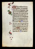 Two Leaves from an Italian Book of Hours