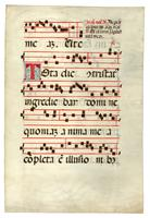 Large leaf from an Italian Antiphonal