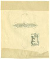 Grace Church on-the-hill Pectoral Cross inscription pencil sketch