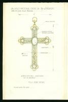 Grace Church on-the-hill Pectoral Cross inscription pencil sketch with measurements