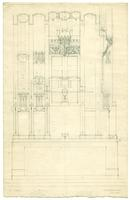 Grace Church-on-the-hill Reredos pencil sketch with scale