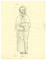 Grace Church-on-the-hill Reredos figure sketch of St. Paul