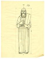Grace Church-on-the-hill Reredos figure sketch of Moses