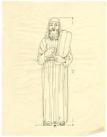 Grace Church-on-the-hill Reredos figure sketch of Moses 2