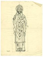 Grace Church-on-the-hill Reredos figure sketch of St. Augustine