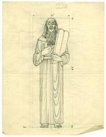 Grace Church-on-the-hill Reredos figure sketch of Moses 3