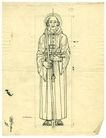 Grace Church-on-the-hill Reredos figure sketch of St. Columba