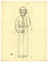 Grace Church-on-the-hill Reredos figure sketch of St. Peter