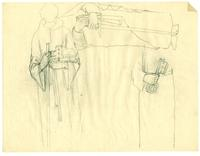 Grace Church-on-the-hill Reredos - figure sketch of hand area