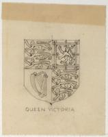 Trinity College mace pencil sketch Queen Victoria
