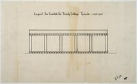Sketch of layout of Trinity College altar frontals