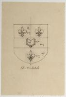 Trinity College mace pencil sketch St. Hilda's